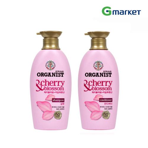 GMARKET公式 LG生活健康 ORGANIST 500ml ナチュラル チェリ―ブロッサム シャンプー or コンディショナー 海外直送 Shampoo SEAL限定商品 ヘアケア 時間指定不可 Cherry Hydrating オーガニックシャンプー Blossoms Conditioner