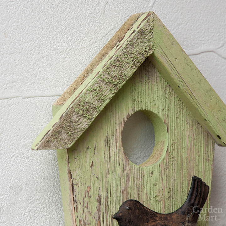 Wall Decoration In Wood Bird House Planter