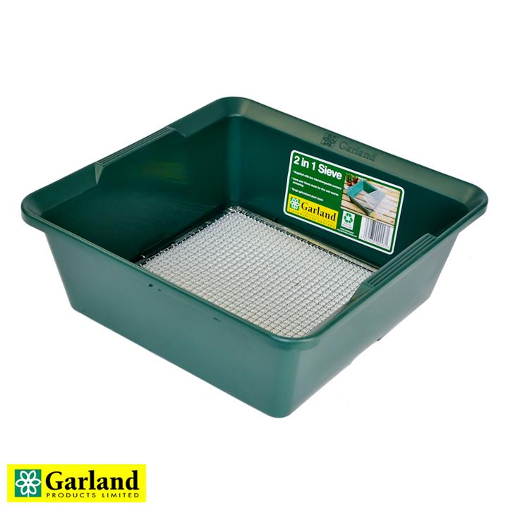 イギリス生まれのプラスチックガーデンツール ふるい 税込 日本最大級の品揃え 土壌こし - 2 in 1 2021年6月再入荷 Ltd. Garland Products ガーランドプロダクツ Sieve