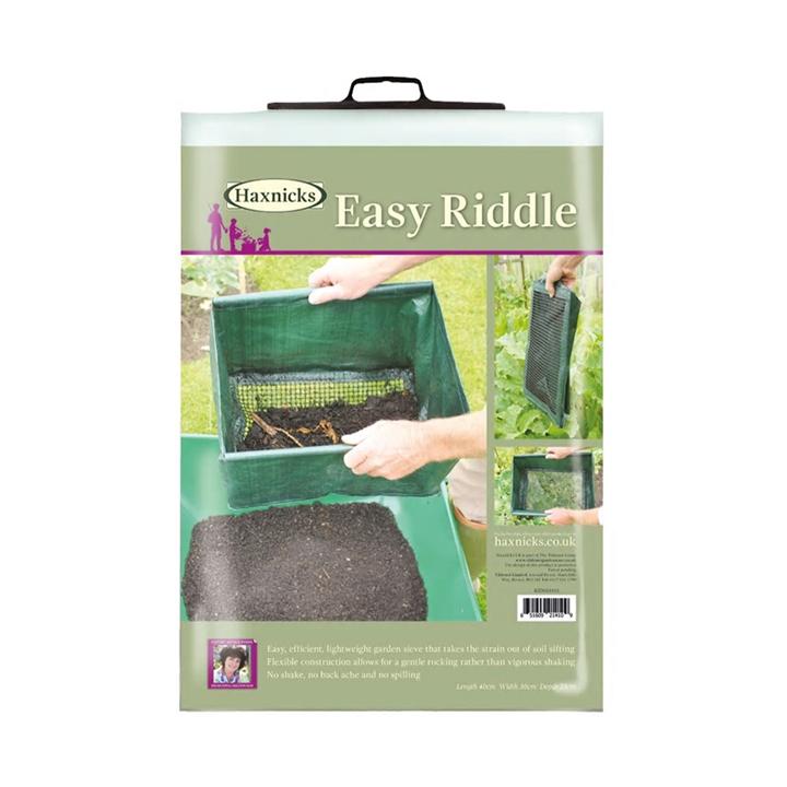 ふるいやすい やわらかポリ素材でできたふるい 商い Haxnicks 爆買いセール イージーリドル 折りたたみふるい - Easy Riddle Garden Sieve