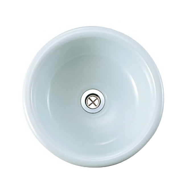 手洗器/HandwashBASINスロウカラーズ 縹色(はなだいろ)手洗い鉢M ラウンド 【メーカー取り寄せ品】