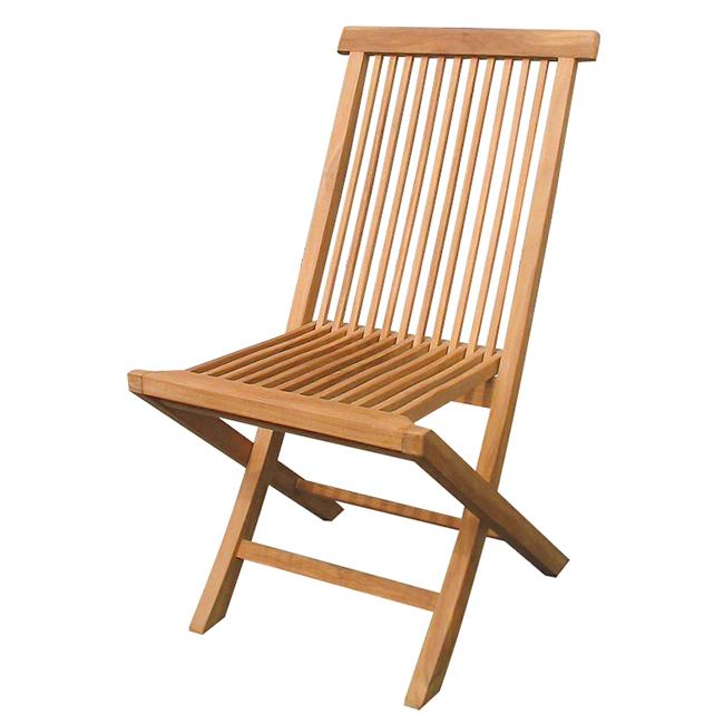 メーカー直送品 代金引換不可 本州送料無料 ガーデンチェア 椅子 安値 木製家具折り畳みチェア ジャービス商事 チーク材ファニチャー 毎日激安特売で 営業中です 折り畳み式 20863 無塗装屋外向け