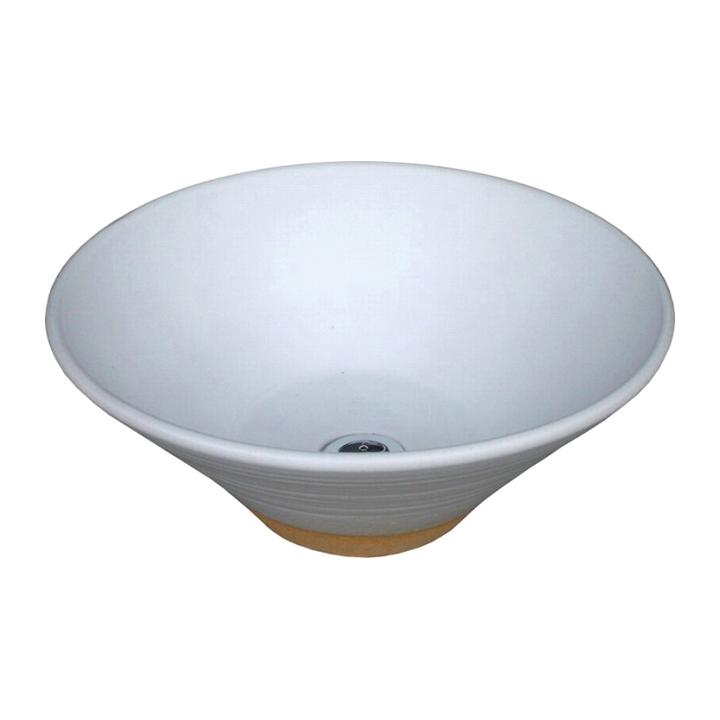 [オンリーワン]お庭の水道をお洒落に。ガーデンパンWATER POT/ウォーターポット手洗い鉢/陶器の水鉢 「白釉」【メーカー取り寄せ品】