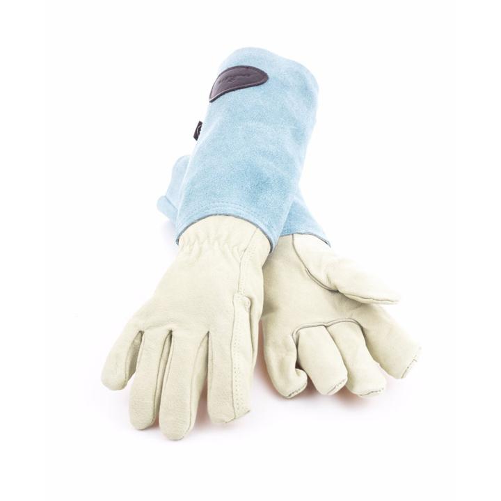 イギリスの職人が作製する本格ガーデニンググローブ 手袋 本革使用 マラソン期間中PT2倍 カラースエードレザーグローブカラー:ブルー - ブラッドリーズ Gardening Leather Gloves お得 オリジナル Bradley's Suede