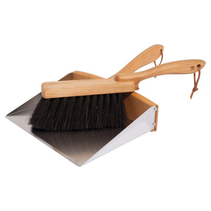 ドイツのお掃除道具 木製ハンドル×スチールパン ヤシ繊維ブラシ ダストパン ハンドブラシ セット- Dust Set REDECKER - Pan レデッカー 送料無料お手入れ要らず Hand 国内送料無料 Brush