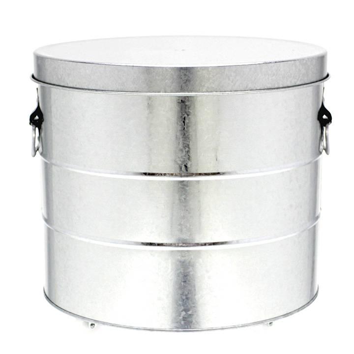 【OBAKETSU/オバケツ】米びつ缶「大容量ライスストッカー」 20kgサイズ キャスター付きシルバー【あす楽対応】
