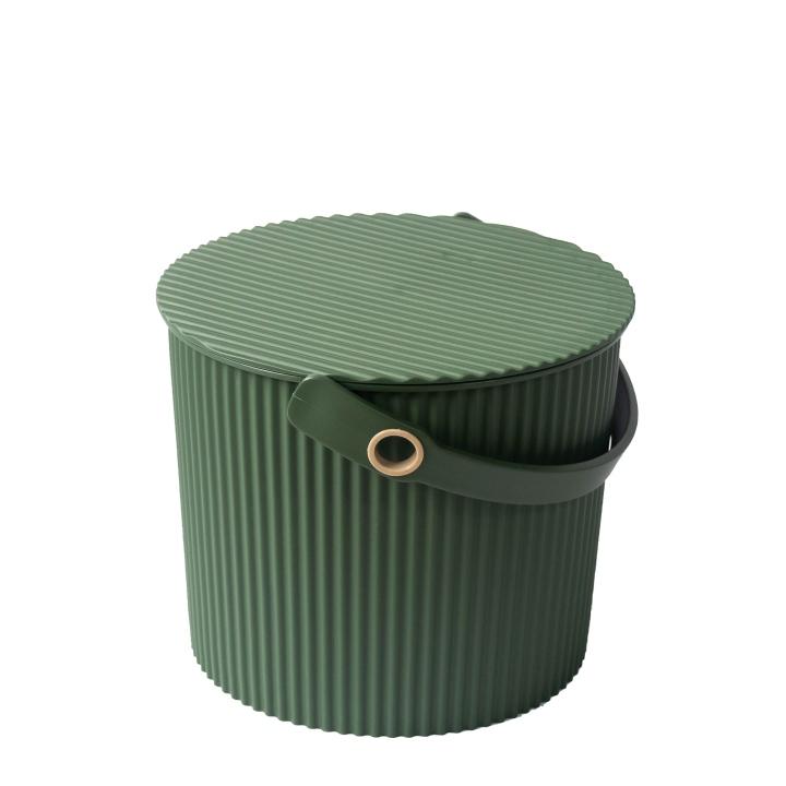 日本製 商舗 ガーデニングに最適なグリーンの樹脂バケツ ガーデンツールバケットSサイズ 8L八幡化成 予約販売 Gardens