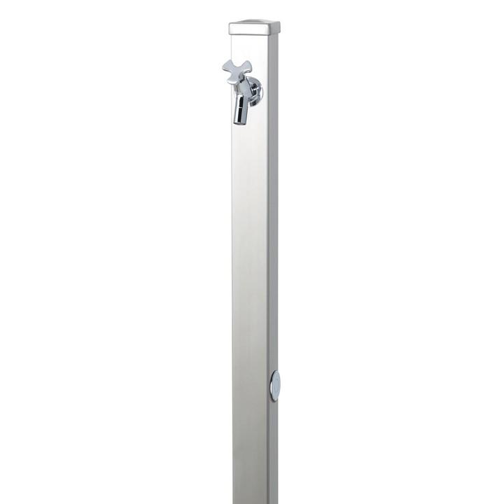 ユニソンスプレスタンド立水栓60角(ステンレスシルバー)+蛇口(シルバー))1個セット左右仕様【メーカー直送品・代金引換不可】