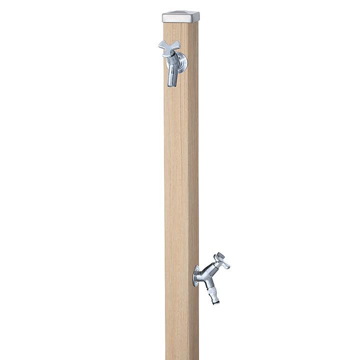 ユニット立水栓スプレスタンド60角(シャインチーク)+蛇口(シルバー)2個セット左右仕様【メーカー直送品・代金引換不可】