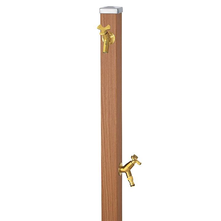 ユニット立水栓スプレスタンド60角(アニグレ)+蛇口(ゴールド)2個セット左右仕様【メーカー直送品・代金引換不可】