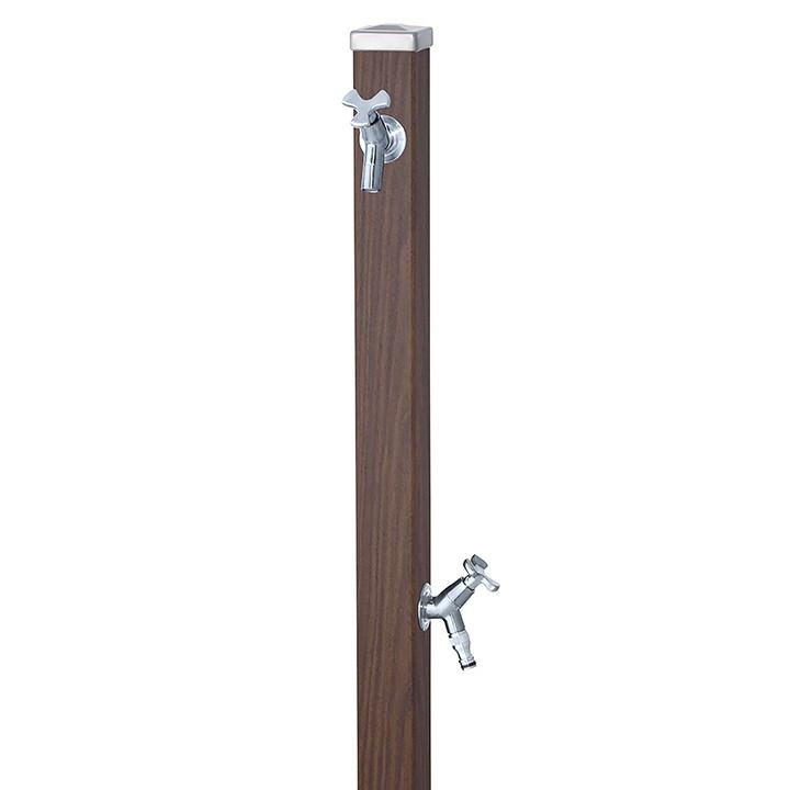ユニット立水栓スプレスタンド60角(アニグレ)+蛇口(シルバー)2個セット左右仕様【メーカー直送品・代金引換不可】