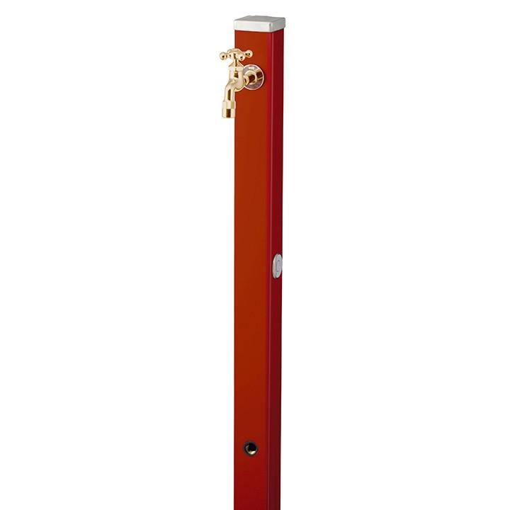【マラソン期間中PT2倍】ユニット立水栓「焼付け塗装」スプレスタンド70角(ダークレッド)+蛇口(ゴールド)1個セット【メーカー直送品・代金引換不可】