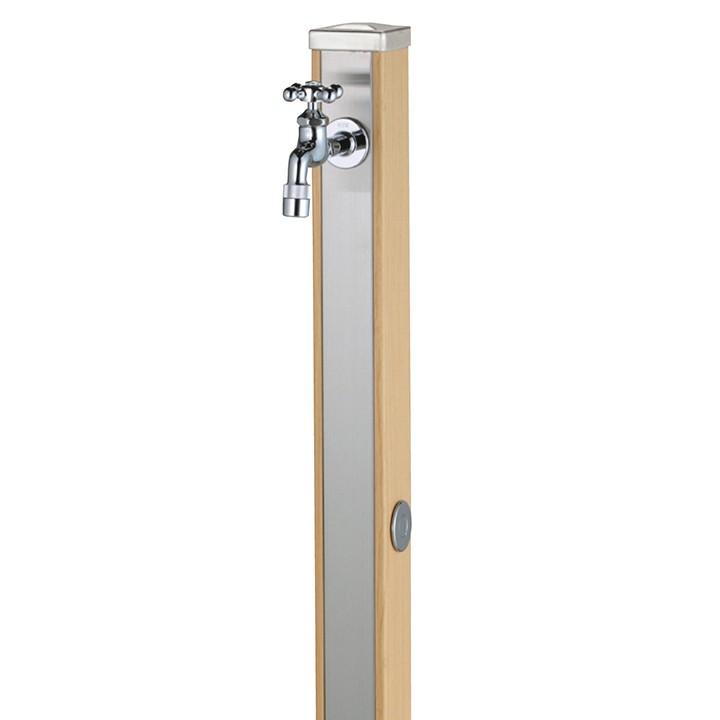 ユニット立水栓「木目調」スプレスタンド70角(ウッドベージュ)+蛇口(シルバー)1個セット【メーカー直送品・代金引換不可】