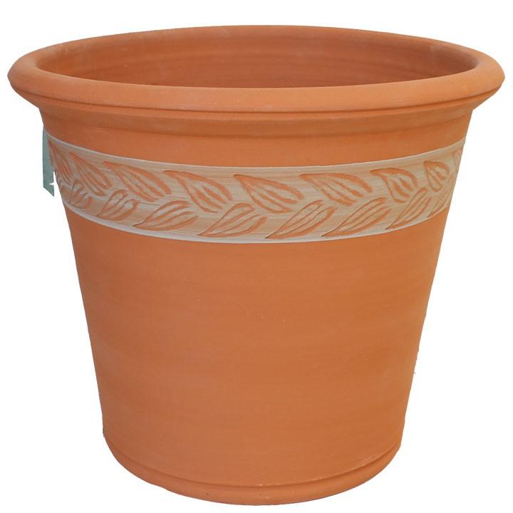 オリーブ リーフ ポット 直径48cmサイズWF-591[ウィッチフォード テラコッタ/植木鉢]