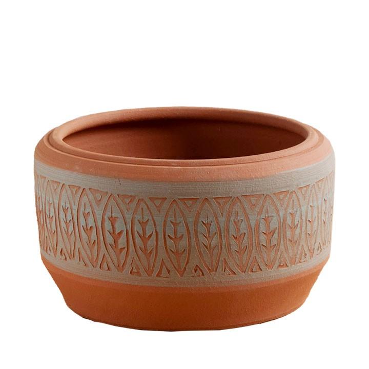 イギリス/英国製 熟練の職人による完全ハンドメイド アステカボウル(アズテックボール) 直径28cmサイズAztec Bowl[Whichford Pottery ウィッチフォード 植木鉢]