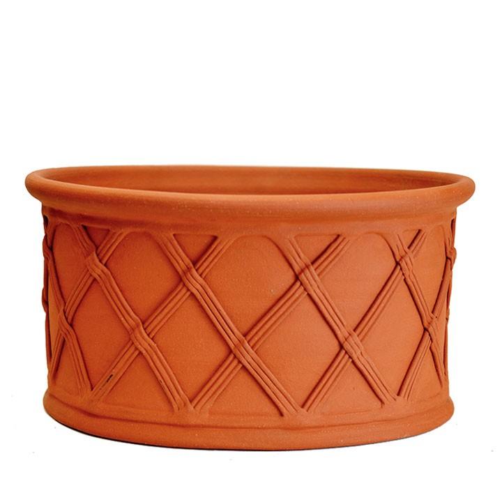 イギリス/英国憧れのWhichford Pottery熟練の職人の手によって、手作業で製作された植木鉢 【資材セットプレゼント対象】 オーヴァルバスケット 幅44cmサイズWF-1484[ウィッチフォード テラコッタ/植木鉢]  【2019年12月再入荷】