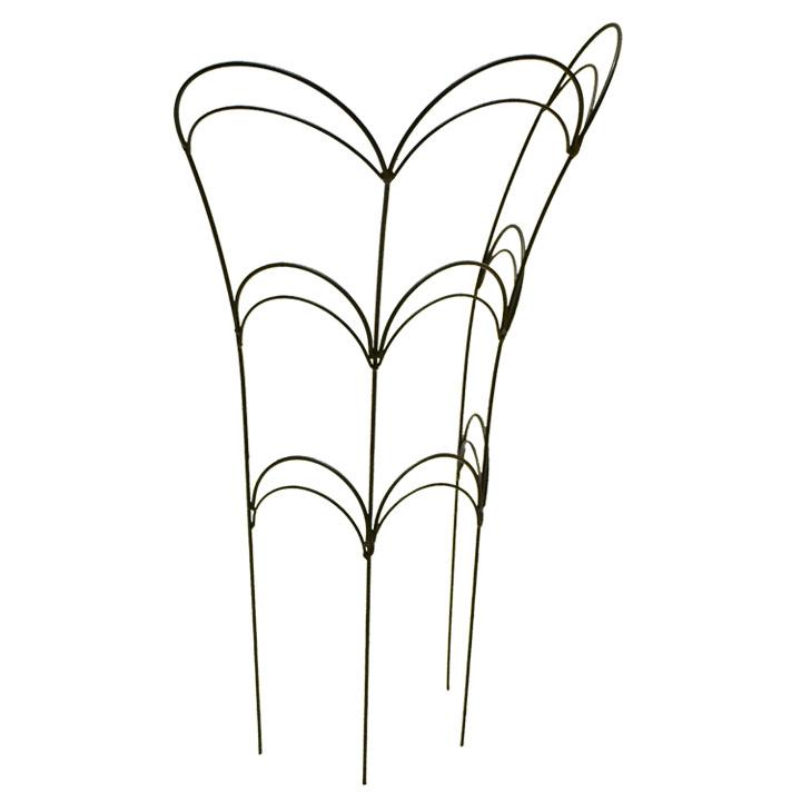 広がった植物や傾いてしまった植物にミニトレリスとして植木鉢プランターにも フラワーガード Mサイズ高さ60cm 休み スピード対応 全国送料無料