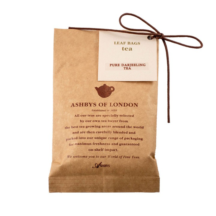 アシュビィズでイギリス流ティーブレイクを ギフトにも メーカー再生品 リーフバッグセレクション ナチュラルティー ダージリン AB6010 英国紅茶 メール便対象 OF ASHBYS LONDON 新品未使用正規品