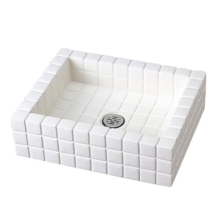 [ニッコーエクステリア nikko]水受け クラシコパン ホワイト【メーカー直送・代金引換不可】