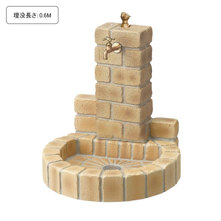 [埋没長さ:0.6M]不凍水栓ユニット サナンド 丸型パン(ブライトイエロー)【メーカー直送・代金引換不可】