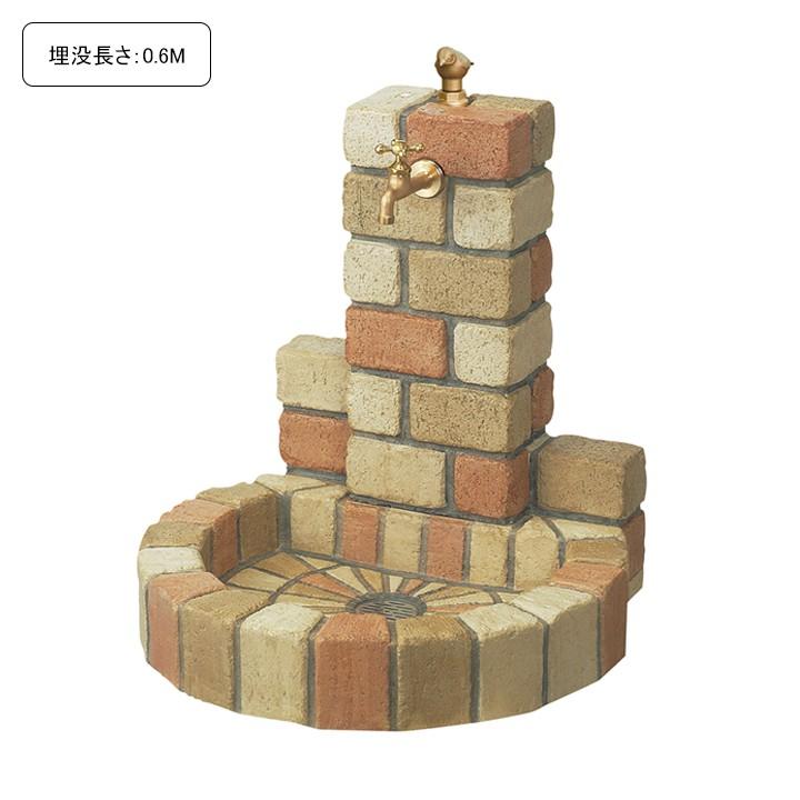 [埋没長さ:0.6M]不凍水栓ユニット サナンド 丸型パン(ミックス)【メーカー直送・代金引換不可】