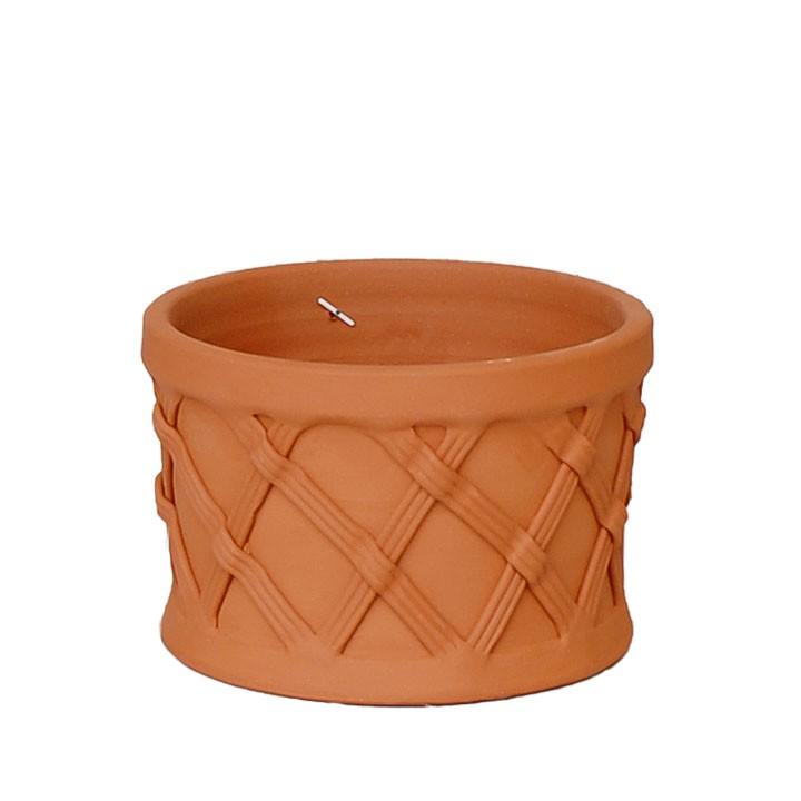 イギリス 英国憧れのWhichford Pottery熟練の職人の手によって 手作業で製作された植木鉢 まとめ買い特価 バスケットプランター 直径25cmサイズWF-1481 新作 人気 植木鉢 ウィッチフォード テラコッタ