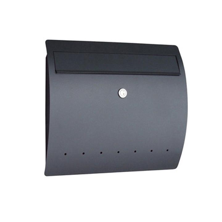 郵便ポスト ゼラフィーニ(Serafini)社製メールボックスRhein(ライン) ブラック【メーカー直送品/代金引換不可】