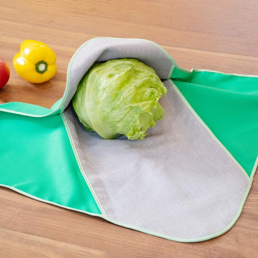 繰り返し使える地球にやさしい、野菜保存袋エシカル消費/サスティナブル社会 【メール便選択時、よりどり3個で送料無料】Vegimage つつむ グリーン【サスティナブルな暮らし対象】