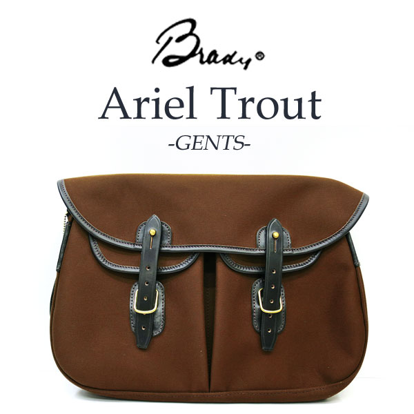 Bradyを代表するバッグ ARIEL TROUT GENTS / アリエルトラウト ジェンツ 【 ヘーゼルナッツ (ブラウン系) 】ショルダーバッグ