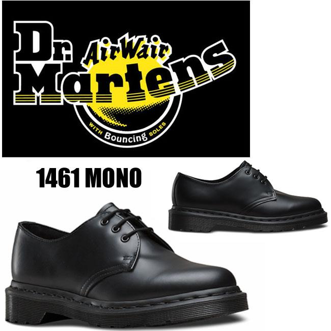 【ケア用品付】 Dr.Martens(ドクターマーチン)1461 MONO 3EYE SHOE 14345001 BLACK