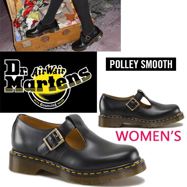 【ケア用品プレゼント】【国内正規商品】 Dr.MARTENS POLLEY SMOOTH 【BLACK】 ポリー 14852001 レディース ポーリー ドクターマーチン