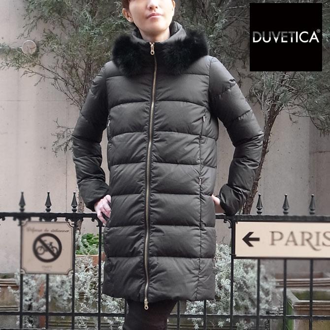 【2018FW モデル】【国内正規商品】*マットな質感 *軽くて暖かい デュベティカ レディースダウンジャケット DUVETICA LEXY レディース デュベティカ レクシー  デュベチカ 999 ブラック レキシー フォックスファー