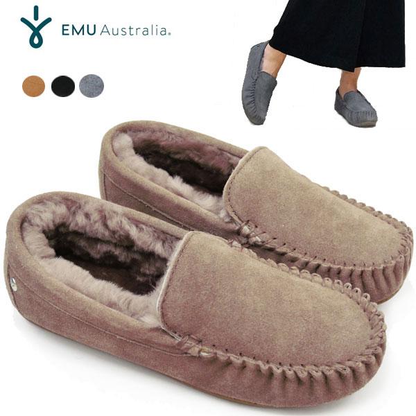信頼 サイズ交換初回片道無料 国内正規商品 送料無料 23cm-28cmまで emu EMU CAIRNS AUSTRALIA エミュ 再入荷 予約販売 ローファー レディース オーストラリア スリッポン 11439 モカシン ケアンズ エミュー ムートン