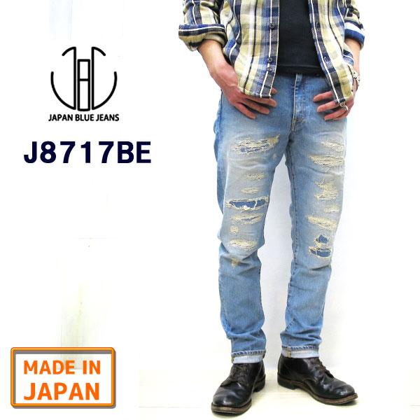 J8717BE 新品番でSML表記に【正規販売代理店】【送料無料】 ジャパンブルージーンズ CALIF. BEVERLY / ビバリー [ 12oz ] 【チェーンステッチにて丈つめ無料】 テーパード プレップ カット JAPAN BLUE JEANS JAPANBLUE 加工 デニム カリフシリーズ JB2301