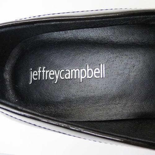 *2019春夏も入荷* 人気の蹄ヒールにパール 付! ヒール約4cm  Jeffrey Campbell ( ジェフリーキャンベル ) マニッシュ シューズ 【BLACK】FJF3941 歩きやすい パール