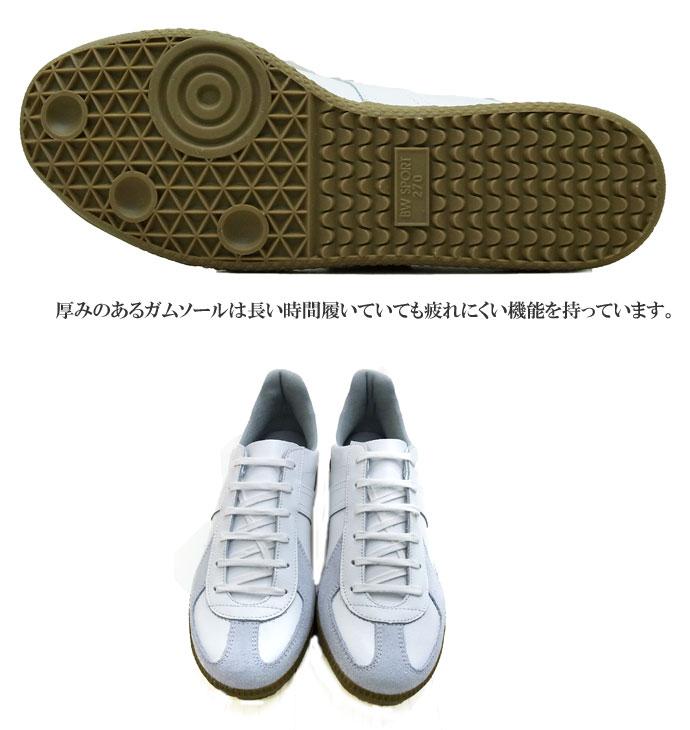 #1183白运动鞋田中通用的德国的教导员GERMAN TRAINER运动鞋人分歧D(WHITE:白白)皮革带子鞋保温瓶披风雷纳运动鞋运动鞋