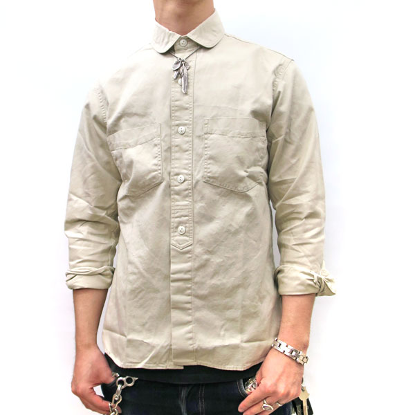 【メール便送料無料☆】 羽衣シャツ 【信頼の日本製】 Macbatros / マクバトロス [ メンズ ラウンドフェイクプルオーバーシャツ ]  綿シャツ 長袖シャツ カジュアルシャツ 綿100% しっかりとした生地 アメカジ