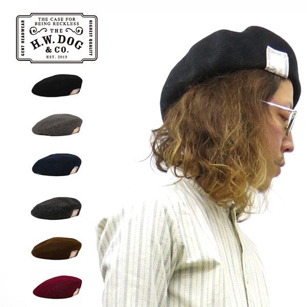 大きめのシルエット メンズライクなベレー帽 ウール 100% 日本製 メール便送料無料 定番ベレー帽 神戸 正規取扱店 THE H.W.DOGCO. ザ エイチ ダブリュー ドッグ カーキ 全6色 d00022 ブラック アンド BERET コーベレー帽 レディース グレー HWDOG 国産品 ネイビー D-00022 ワイン 初回限定 メンズ