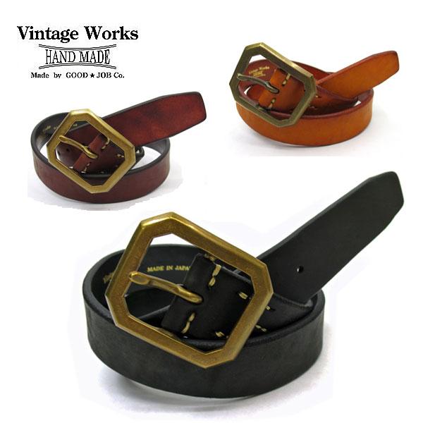 【神戸 正規取扱店】 Vintage Works ヴィンテージワークスDH5684 ハンドメイドレザーベルト 牛革(ベンズレザー)幅 約38mm【 全3色 】ビンテージワークス ベルト アメカジ 5ホール 国産