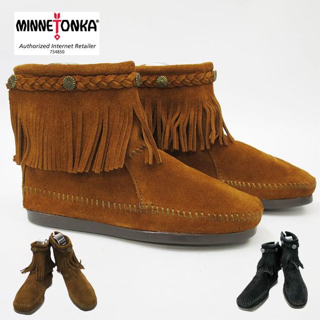 【★】【国内正規品】ミネトンカの代名詞ブーツ ★ MINNETONKA ミネトンカ Hi Top Back Zip Boot 【 292 : BROWN】【 293 :DUSTY BROWN】【 299 :BLACK】