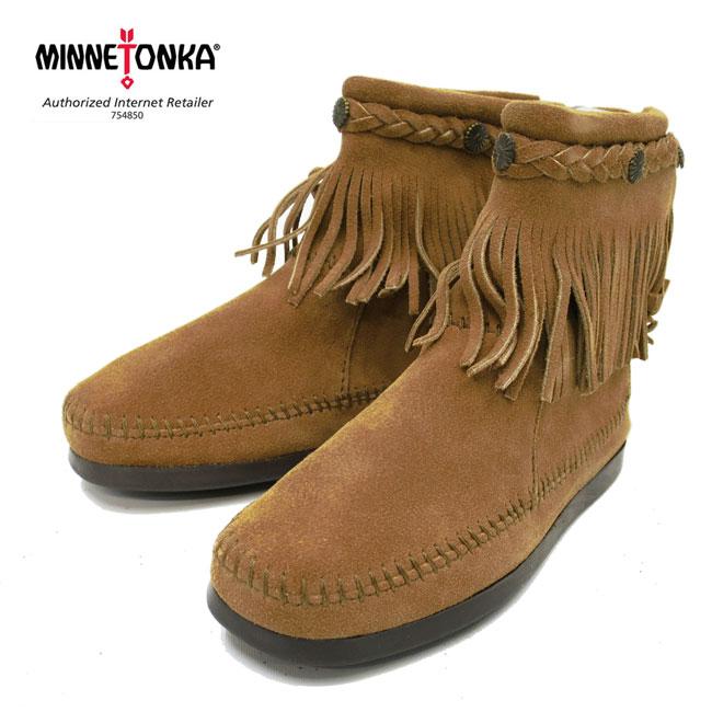 【国内正規品】ミネトンカの代名詞ブーツ ★ MINNETONKA ( ミネトンカ )Hi Top Back Zip Boot 【 297T : TAUPE 】
