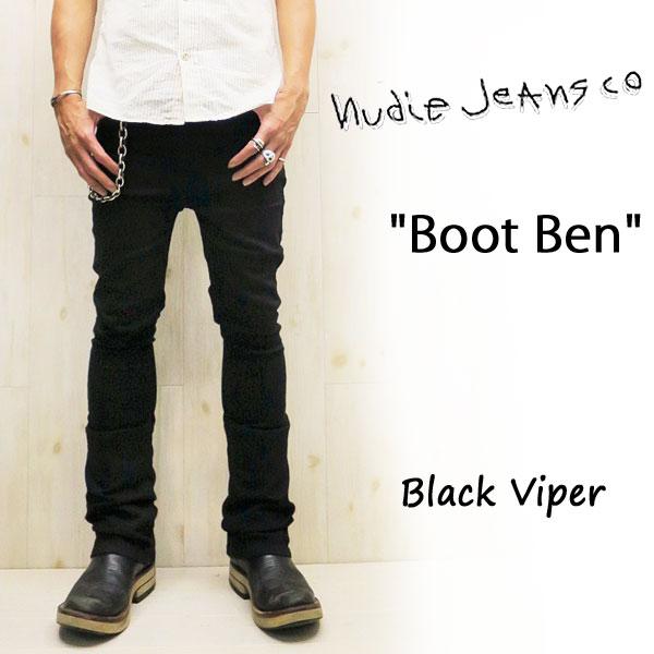NUDIE JEANS ( ヌーディージーンズ )BOOT BEN [ Black Viper ] (485) / ブートベン [ ブラックバイパー ] 42161-1256 SKU#111939 BOOTBEN nudie jeans ヌーディージーンズ ブラック ドライ ブーツカット デニム