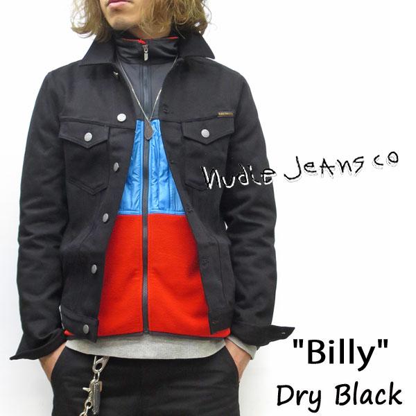 2020SS NUDIE JEANS ( ヌーディージーンズ ) BILLY (ビリー) [ DRY BLACK ] (NB26) ドライデニム 51161-5002 SKU#160605 nudie jeans ヌーディージーンズ ブラックデニム ユニセックス Gジャン デニムジャケット 綿100%