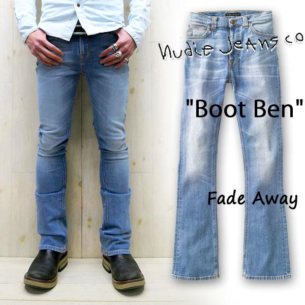 NUDIE JEANS ( ヌーディージーンズ )BOOT BEN [ FADEAWAY ] (583) / ブートベン [ フェイドアウェイ ] 42161-1139 SKU#112042 BOOTBEN nudie jeans ヌーディージーンズ メンズ ブーツカット