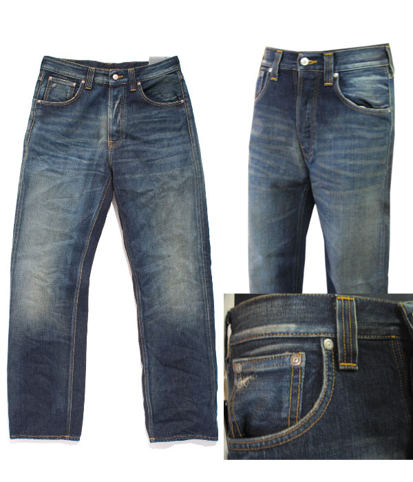NUDIE JEANS(牛羚D牛仔裤)FAST FREDDY(迅速弗雷迪)color: CRISPY SCRAPED(709)FASTFREDDY