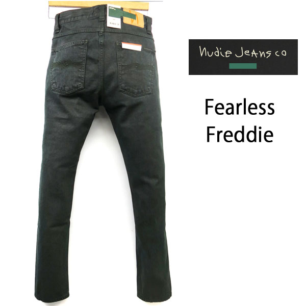 2018FW 超限定 【GREEN】 NUDIE JEANS ( ヌーディージーンズ ) FEARLESS FREDDIE (フェアレスフレディー) [ ARMY COATED ] (N977) / アーミーコーテッド 48161-1420 SKU#112869 nudie jeans FEARLESSFREDDIE ヌーディージーンズ ユニセックス イタリア製