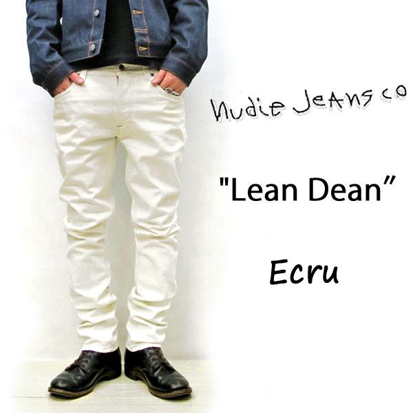 2019SS NUDIE JEANS LEAN DEAN ヌーディージーンズ リーンディーン[ ECRU (N225)] 49161-1087 SKU#112905 LEANDEAN nudie jeans ヌーディージーンズ メンズ レディース イタリア製 ホワイトデニム