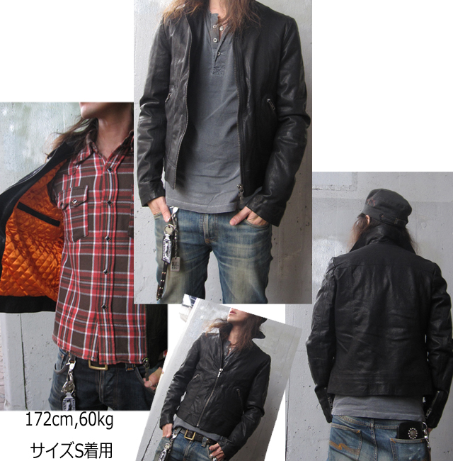 Nudie jeans jonny leather jacket black