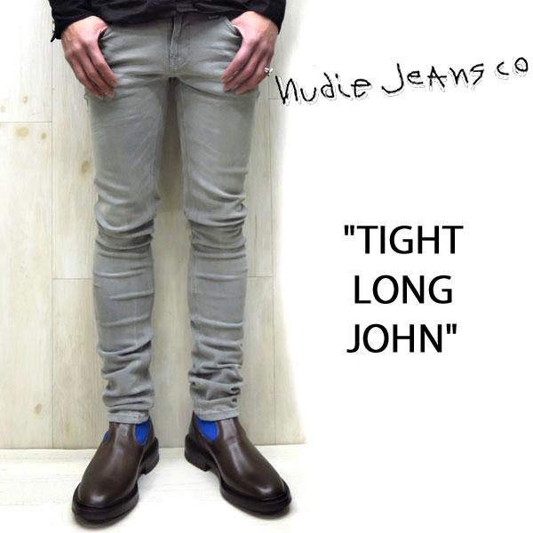 NUDIE JEANS ( ヌーディージーンズ )TIGHT LONG JOHN タイトロングジョン パワーストレッチスキニーデニム  【 color.295 LIGHT ASH ライトアッシュ 】アッシュグレーnudie jeans tight longjohn 40161-1221UNISEX