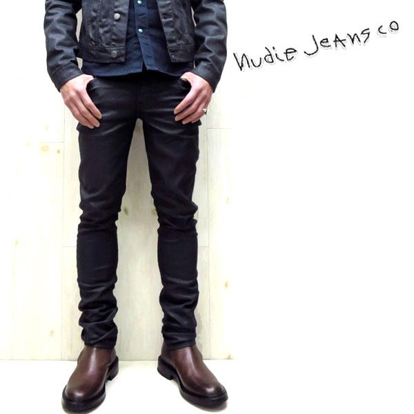 【在庫限り】【★】 NUDIE JEANS ( ヌーディージーンズ )TIGHT LONG JOHN タイトロングジョン パワーストレッチスキニーデニム 【 color.335 THROB BLACK スラブブラック 】nudie jeans tightlongjohn 40161-1338UNISEX
